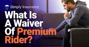 Waiver of Insurance Premium Rider